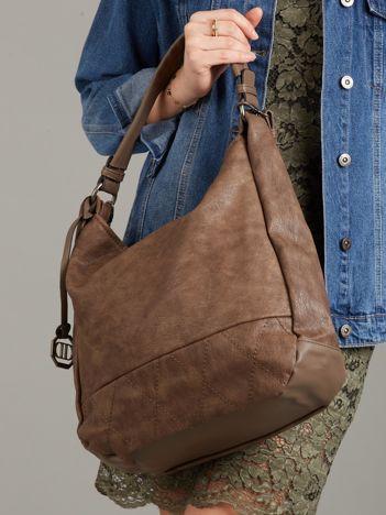Brązowa torba z eko skóry