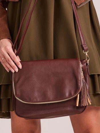 Brązowa torebka damska z chwostem