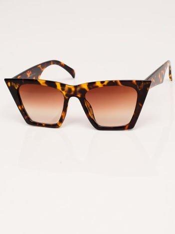 Brązowe Okulary Przeciwsłoneczne KOCIE OCZY