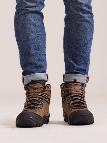 Brązowe męskie buty trekkingowe