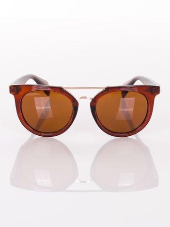 Brązowe okulary przeciwsłoneczne VINTAGE RETRO