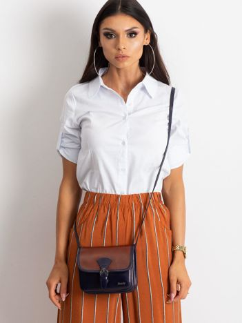 Brązowo-granatowa damska torebka