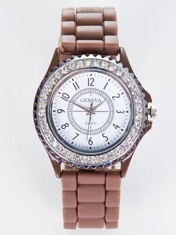Brązowy Zegarek Damski  GENEVA JELLY