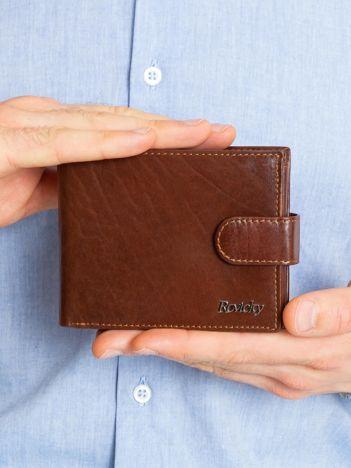 Brązowy męski portfel skórzany