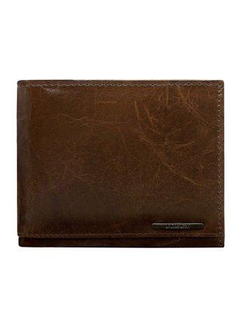Brązowy portfel dla mężczyzny bez zapięcia z system RFID