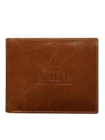 Brązowy portfel męski bez zapięcia