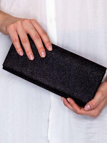 Brokatowa kopertówka ze wzorem w romby czarna