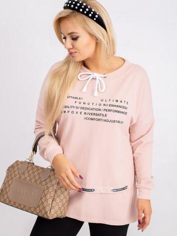 Brudnoróżowa bluza plus size Aspiration