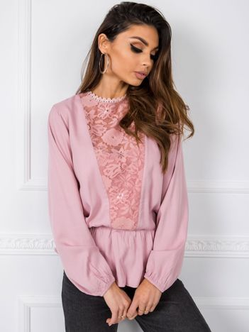 Brudnoróżowa bluzka Betty RUE PARIS