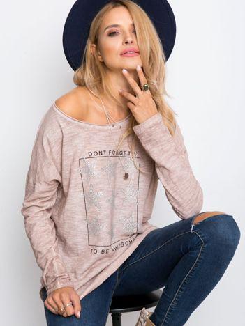 Brudnoróżowa bluzka Elsey