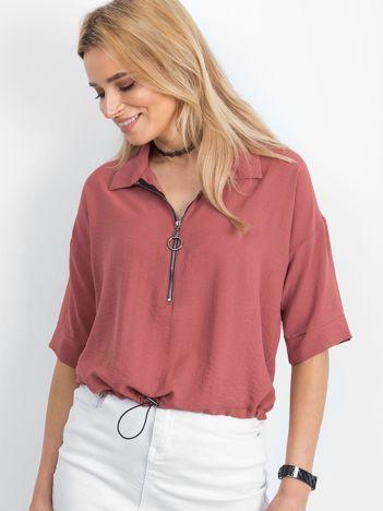 Brudnoróżowa bluzka Hokum