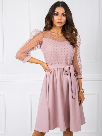 Brudnoróżowa sukienka Deborah