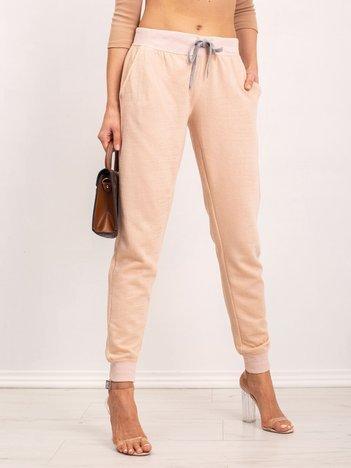 Brudnoróżowe spodnie Tracey