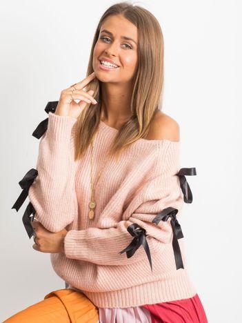 Brudnoróżowy sweter Hailee