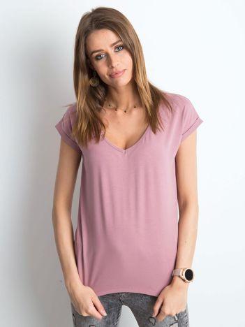 Brudnoróżowy t-shirt Vibes