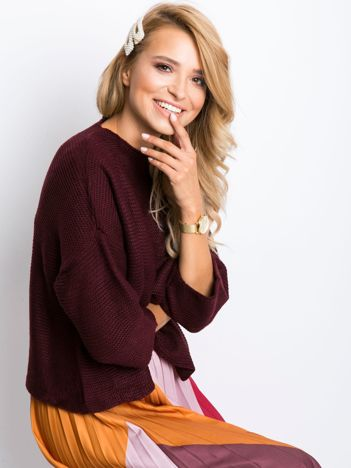 Burgundowy sweter Lennox