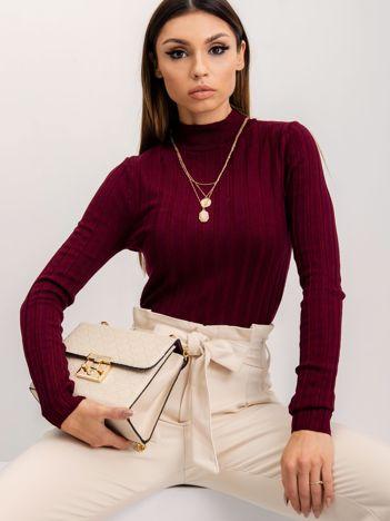 Burgundowy sweter Shirley