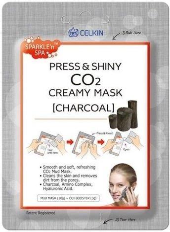 CELKIN koreańska maseczka na twarz WĘGIEL 10 g + 3 g