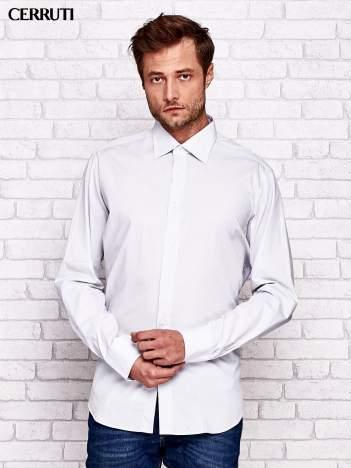 CERRUTI Jasnoszara koszula męska w delikatną kratkę