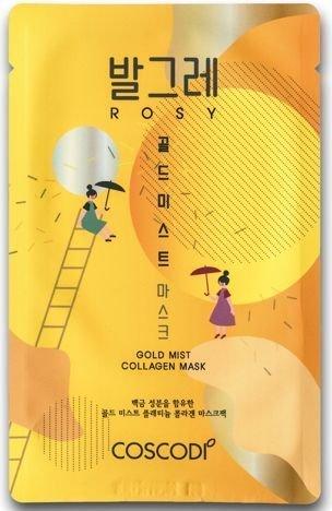 COSCODI Koreańska kolagenowa maseczka na tkaninie z koloidalną platyną ZŁOTO
