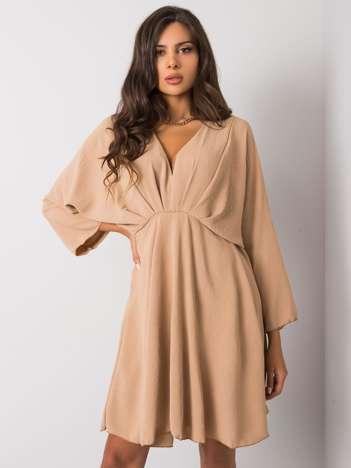 Camelowa sukienka Zayna
