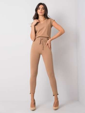 Camelowe spodnie Debora