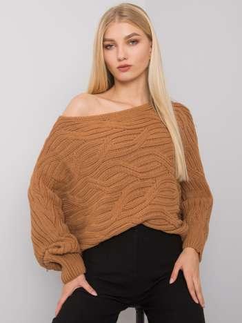 Camelowy sweter oversize Burlington