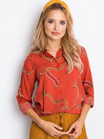 Ceglasta koszula Chain