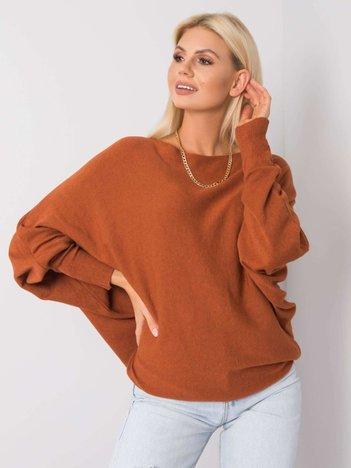Ceglasty sweter oversize Preston SUBLEVEL
