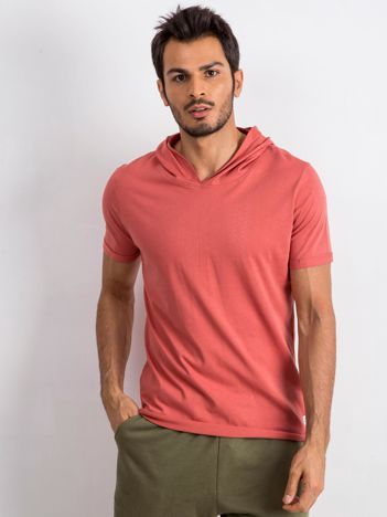 Ceglasty t-shirt męski Lifter