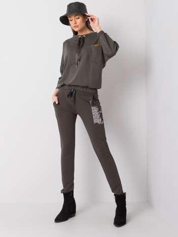 Ciemne khaki spodnie dresowe Taylor