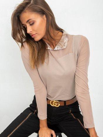 Ciemnobeżowa bluzka Chastity