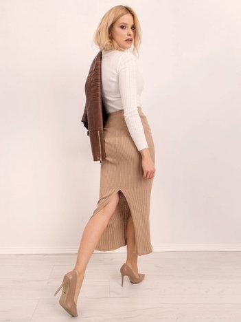 Ciemnobeżowa spódnica BSL