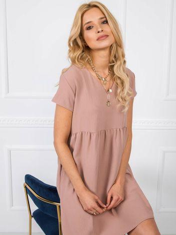 Ciemnobeżowa sukienka Erin RUE PARIS