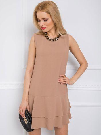 Ciemnobeżowa sukienka Sylvie RUE PARIS