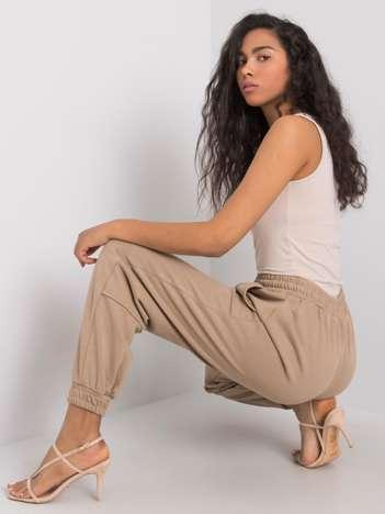 Ciemnobeżowe spodnie dresowe June