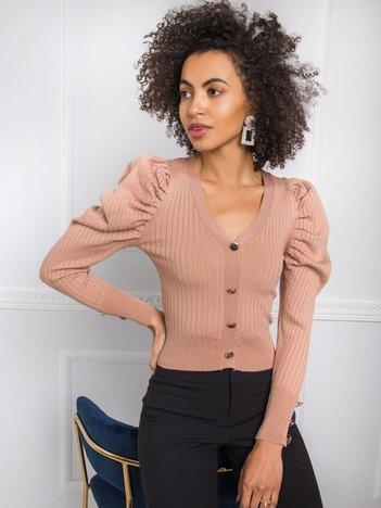 Ciemnobeżowy sweter Hazel