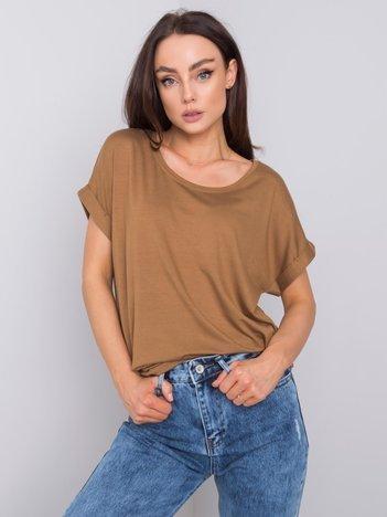 Ciemnobeżowy t-shirt Dafne RUE PARIS