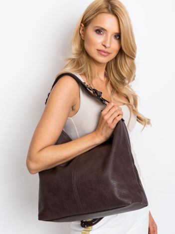 Ciemnobrązowa torba damska