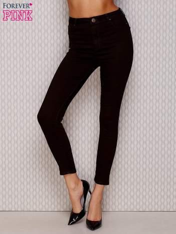 Ciemnobrązowe spodnie regular