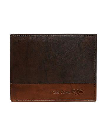 Ciemnobrązowy portfel bez zapięcia
