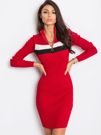 Ciemnoczerwona sukienka Freefall