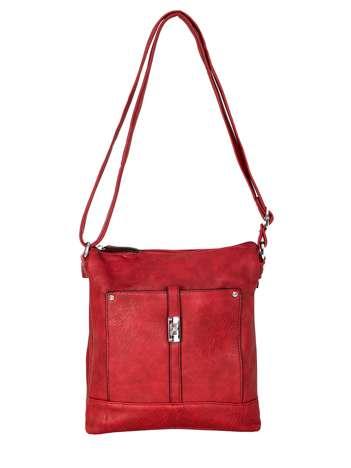 Ciemnoczerwona torebka damska