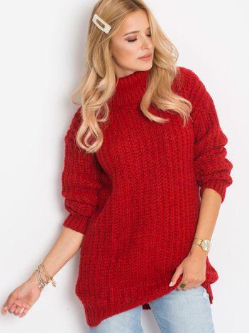 Ciemnoczerwony sweter Dakota