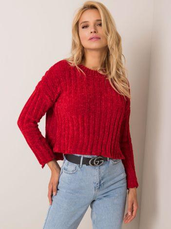 Ciemnoczerwony sweter Olivvia RUE PARIS