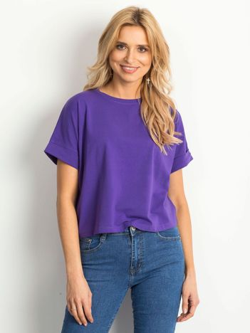 Ciemnofioletowy t-shirt Woodland