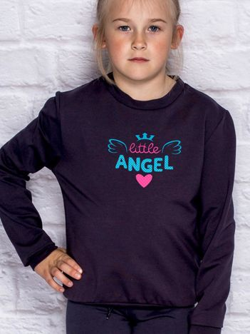 Ciemnogranatowa bluza dla dziewczynki LITTLE ANGEL