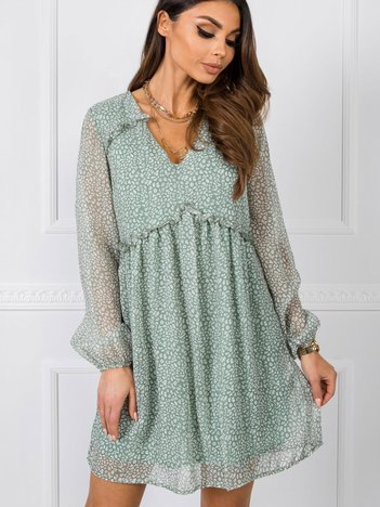 Ciemnomiętowa sukienka Claire RUE PARIS