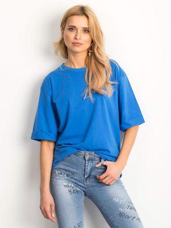 Ciemnoniebieska bluzka Alongside