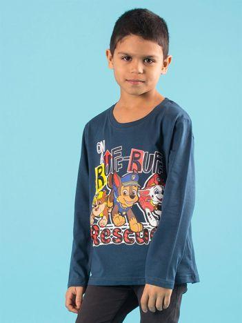 Ciemnoniebieska bluzka dziecięca z nadrukiem PSI PATROL